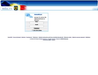 administraresite.edu.ro screenshot