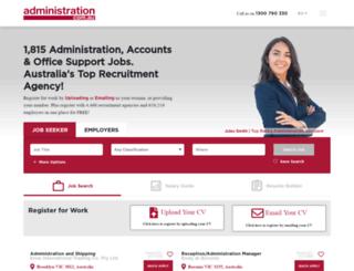 administration.com.au screenshot