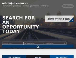 adminjobs.com.au screenshot