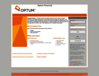 adminservices.optumhealthfinancial.com screenshot