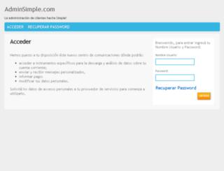 adminsimple.com screenshot