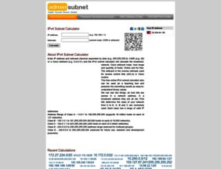 adminsubnet.net screenshot