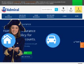 admiral.co.uk screenshot