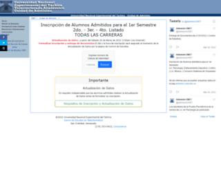 admision.unet.edu.ve screenshot