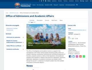admisiones.unimagdalena.edu.co screenshot