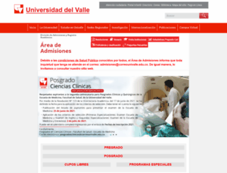 admisiones.univalle.edu.co screenshot