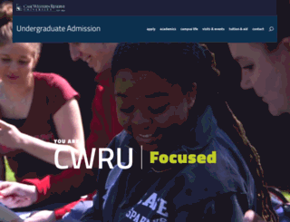 admission.case.edu screenshot