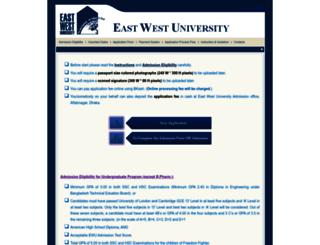 admission.ewubd.edu screenshot