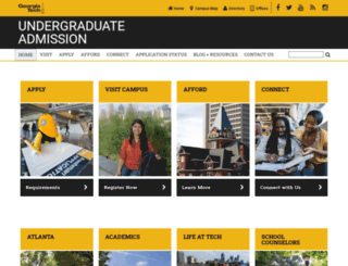 admission.gatech.edu screenshot