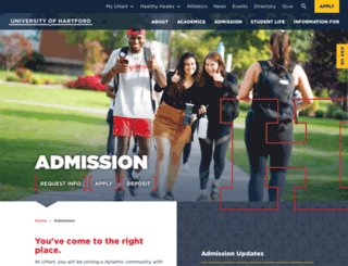 admission.hartford.edu screenshot
