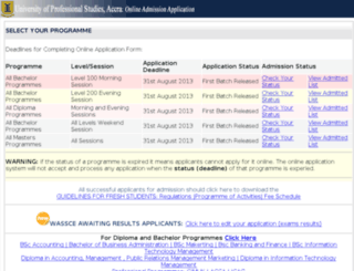 admission.ips.edu.gh screenshot