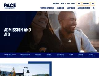 admission.pace.edu screenshot