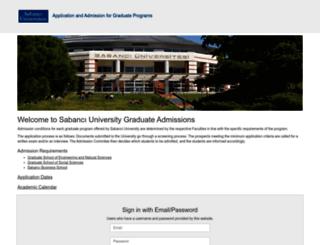 admission.sabanciuniv.edu screenshot