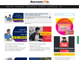 admission.successcds.net screenshot