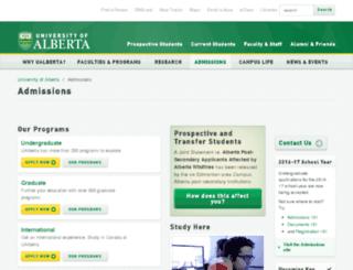 admission.ualberta.ca screenshot