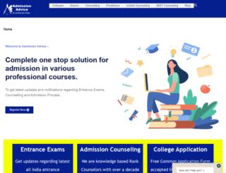 admissionadvice.in screenshot