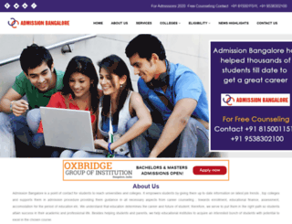 admissionbangalore.com screenshot