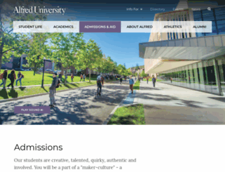 admissions.alfred.edu screenshot