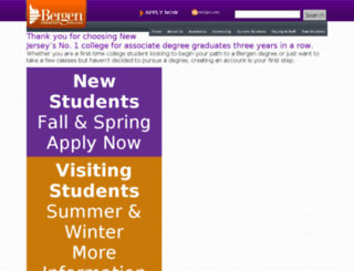 admissions.bergen.edu screenshot