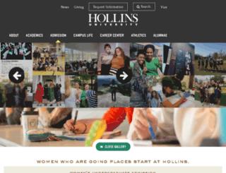 admissions.hollins.edu screenshot