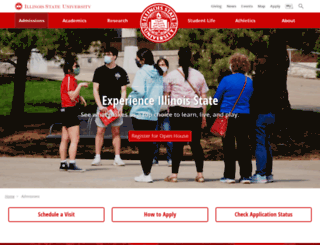 admissions.ilstu.edu screenshot