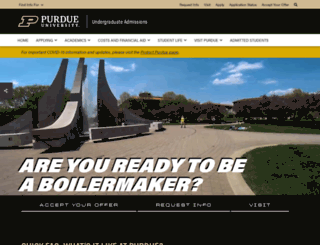 admissions.purdue.edu screenshot