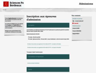 admissions.sciencespobordeaux.fr screenshot