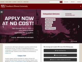 admissions.siu.edu screenshot
