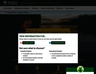 admissions.ualberta.ca screenshot