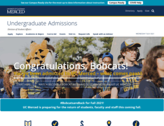 admissions.ucmerced.edu screenshot