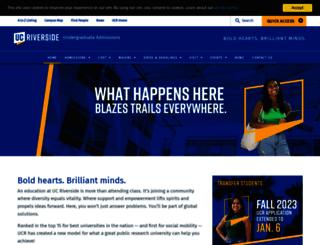 admissions.ucr.edu screenshot
