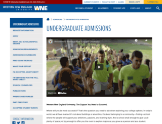 admissions.wne.edu screenshot