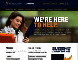 admissions.wvutech.edu screenshot