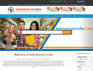 admissionsinindia.com screenshot