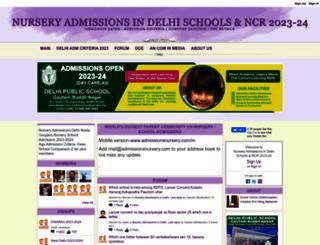 admissionsnursery.com screenshot