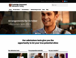 admissionstestingservice.org screenshot