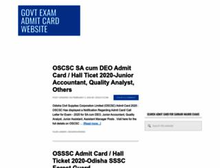 admit-card.20govt.com screenshot