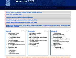 admitere.ugal.ro screenshot