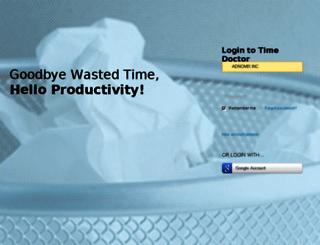 adnomix.timedoctor.com screenshot