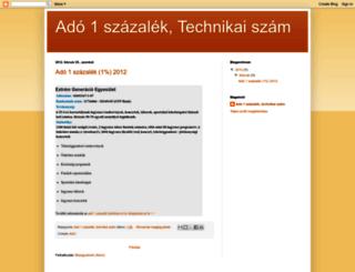 ado1-szazalek-technikai-szam.blogspot.com screenshot