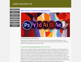 adobe-education.de screenshot
