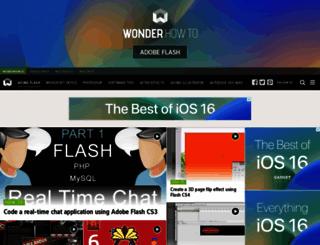 adobe-flash.wonderhowto.com screenshot