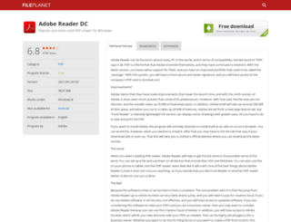 adobe-reader.fileplanet.com screenshot