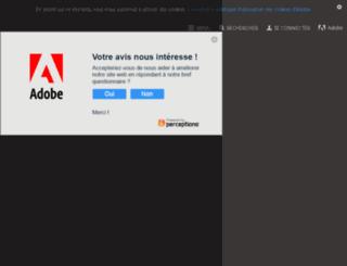 adobe.fr screenshot