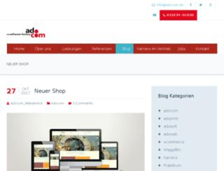 adocom-blog.de screenshot