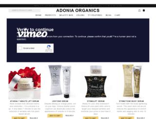 adoniaorganics.com screenshot