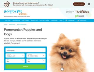 adopt-a-pomeranian.adoptapet.com screenshot