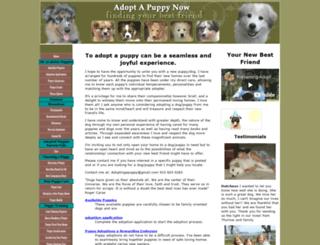 adopt-a-puppy-now.com screenshot