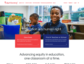 adoptaclassroom.org screenshot