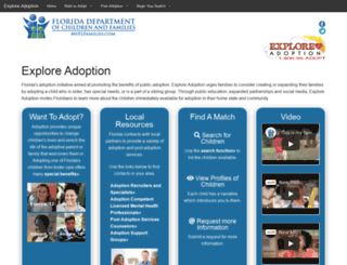 adoptflorida.org screenshot